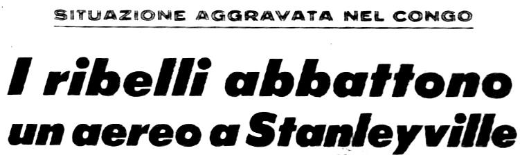 Corrispondenza pubblicata sul Corriere della Sera del 1.12.1964