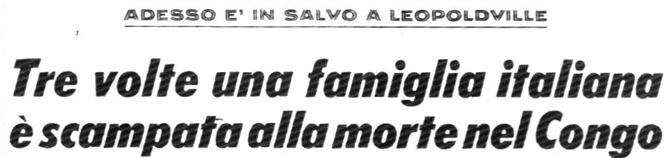 Corrispondenza pubblicata sul Corriere della Sera del 2.12.1964