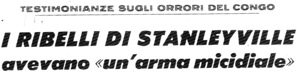 Corrispondenza pubblicata sul Corriere della Sera del 3.12.1964