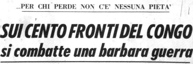 Corrispondenza pubblicata sul Corriere della Sera del 4.12.1964