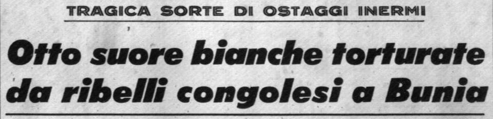 Corrispondenza pubblicata sul Corriere della Sera del 6.12.1964