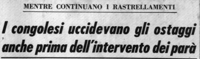 Corrispondenza pubblicata sul Corriere della Sera del 15.12.1964