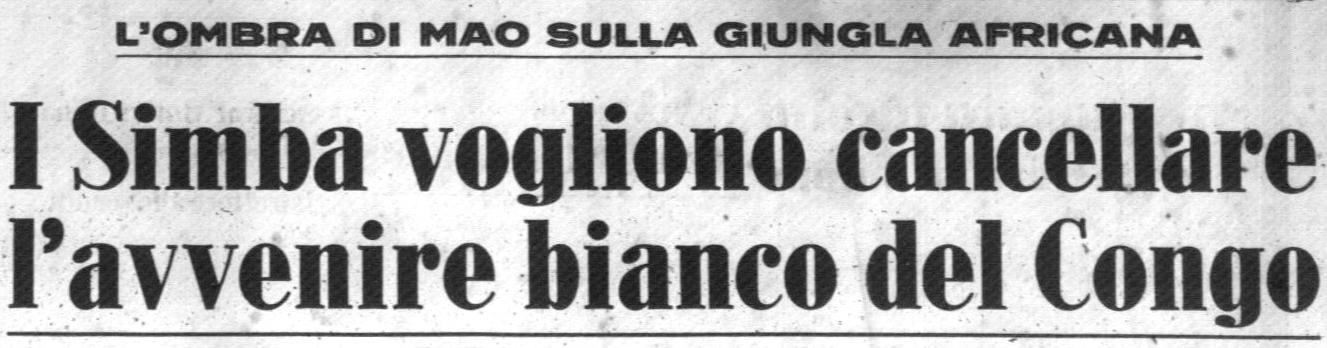 Corrispondenza pubblicata sul Corriere della Sera del 23.12.1964