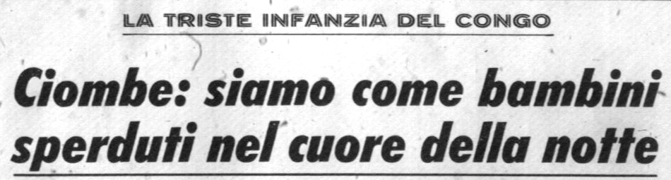 Corrispondenza pubblicata sul Corriere della Sera del 29.12.1964