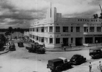 Hotel des Chutes e, sullo sfondo, il Fiume Congo