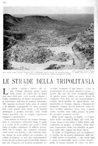 Le strade della Tripolitania